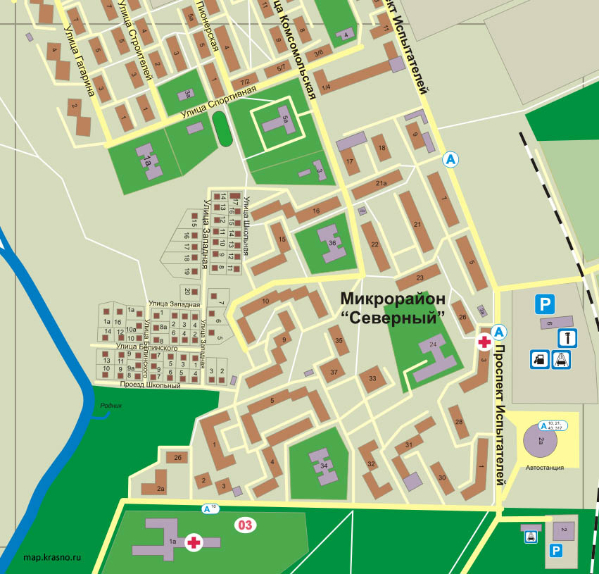 Тонкая карта города Курск с